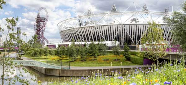 The exterior of London's Olympic Stadium