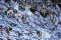 QPR supporters inside the stadium