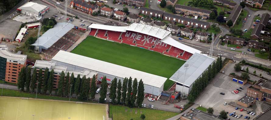 Aerial view of Racecourse Ground