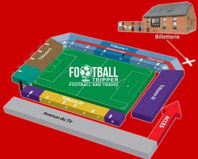 Stade Charles Tondreau seating plan
