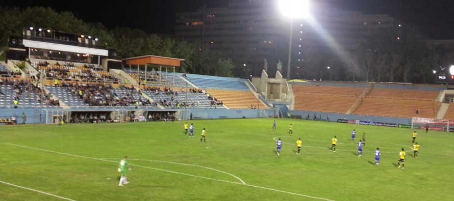 Rah Ahan stadium during a night match