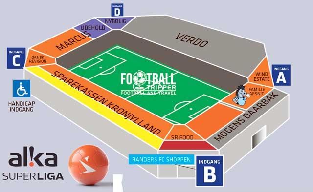 Randers Park Stadion Map