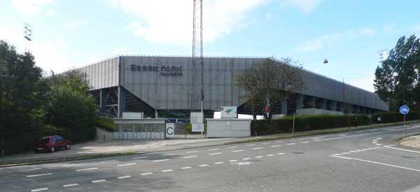 Exterior of FC Randers stadium