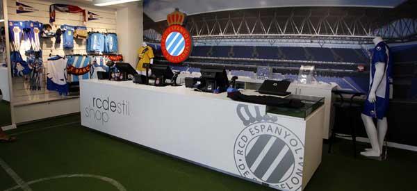 Inside RCD Espanyol club shop club shop