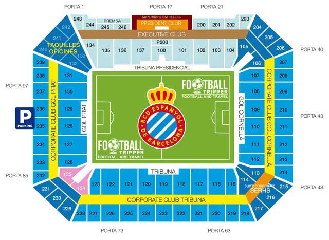 Cornella El Prat seating plan