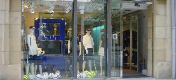 Exterior of Real Sociedad club shop