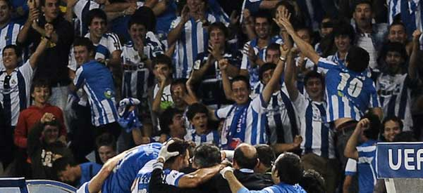 Real Sociedad supporters inside the stadium