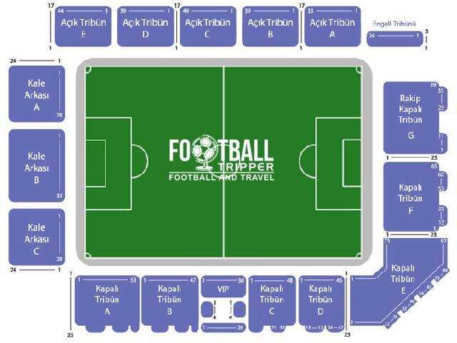 Recep Tayyip Erdoğan Stadium seating map