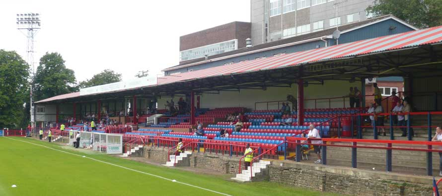 Recreation Ground's main stand