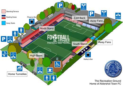 Stadium map for Recreation Ground