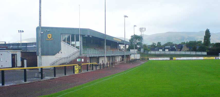 The main stand of Recreation Park in Alloa