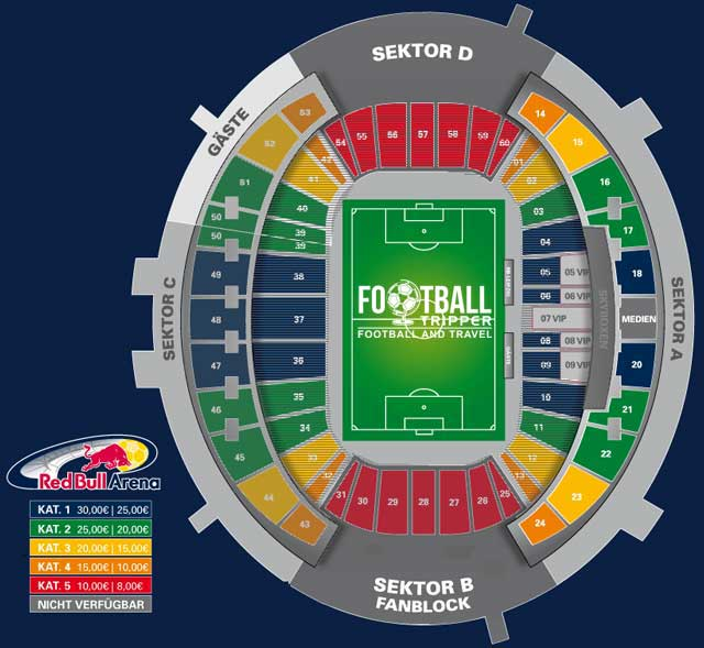 Red Bull Arena Leipzig Seating Plan