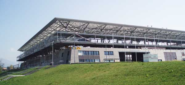 Exterior of Red Bull Arena Salzburg
