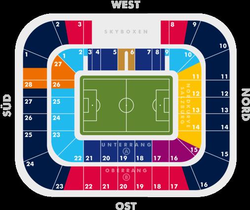 FC Salzburg Arena Seating Pkan