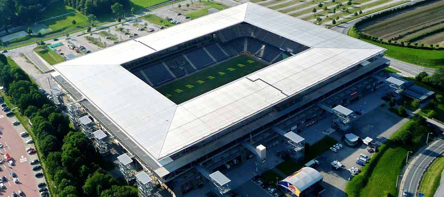 Aerial view of Red Bull Arena Salzburg