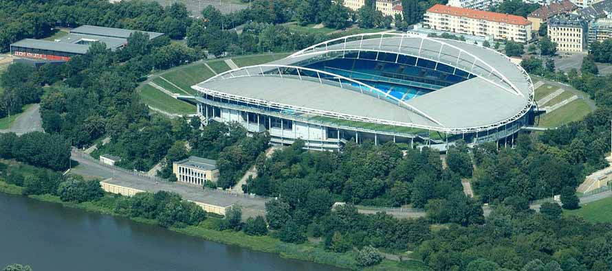 aerial view red bull arena leipzig