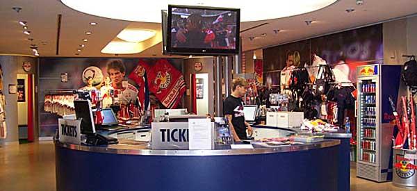 Interior of Red Bull Salzburg club shop