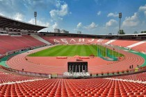 Inside empty Red Star Stadium