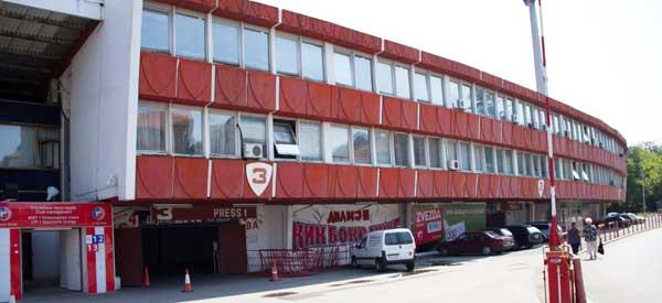 Exterior of Stadion Rajko Mitic