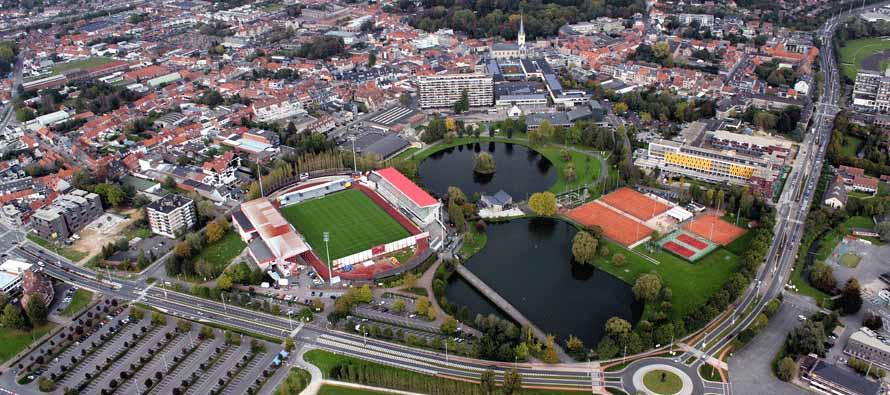 Aerial view of Regenboogstadion