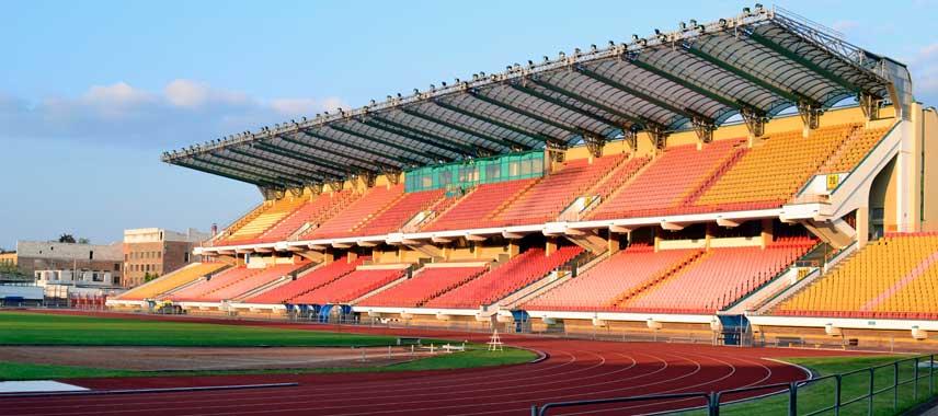 Main stand of Dinamo Brest's stadium