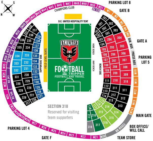 RFK Memorial Stadium Seating Plan