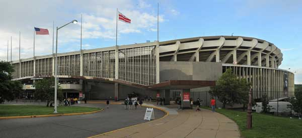 The exterior of Robert F. Kennedy Stadium