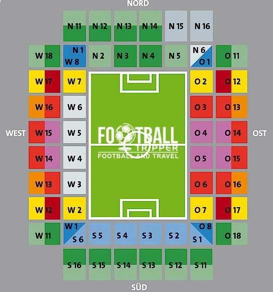 The seating plan of Rhein-Energie-Stadion