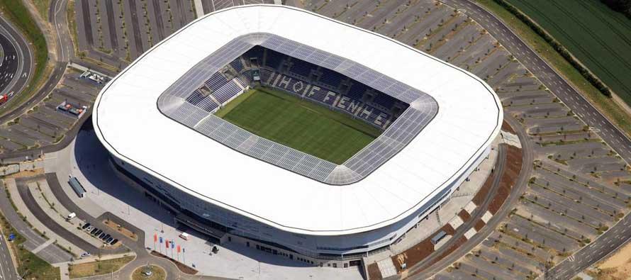 Aerial view of Rhein Neckar Arena