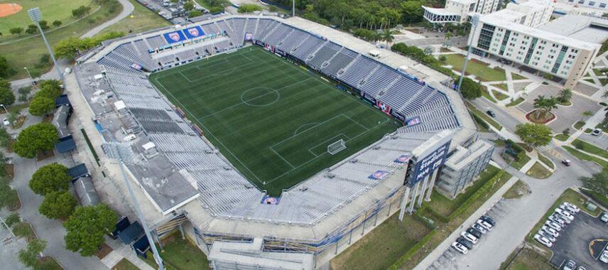 Aerial view of Riccardo Silva Stadium
