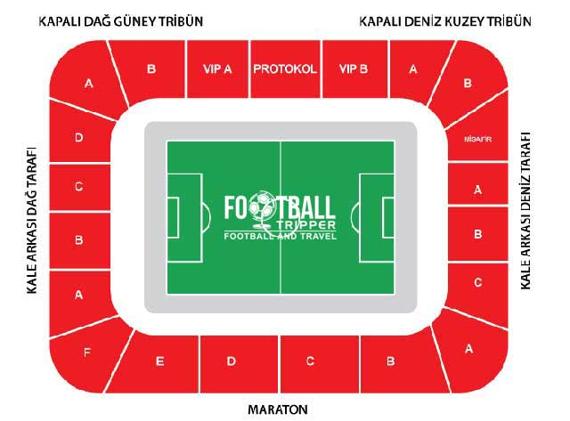 Yeni Rize Şehir Stadı seating chart