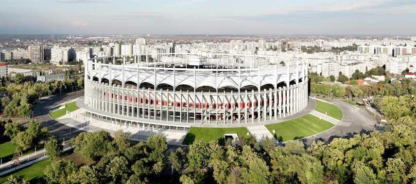 Aerial view of Romania's stadium