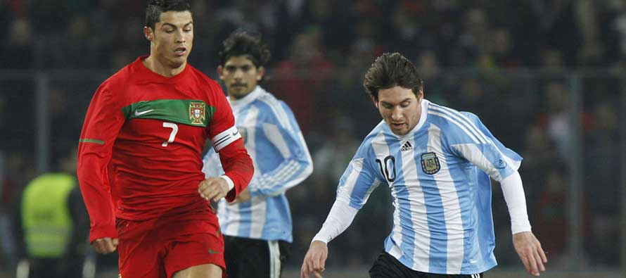 Ronaldo and Messi for Portugal and Argentina