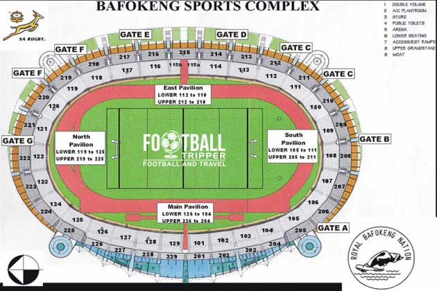 Seating Map for Royal Bafokeng
