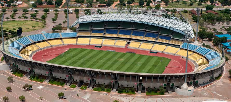 Aerial view of Royal Bafokeng Stadium