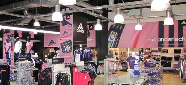 Interior of Anderlecht club shop
