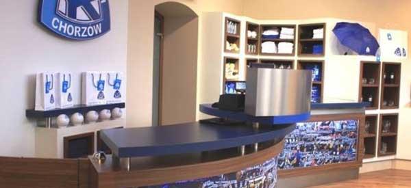 Inside Ruch Chorzow club shop