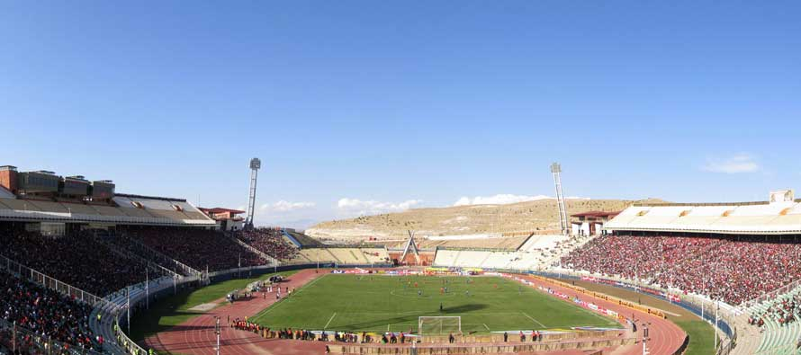 Splendid view inside Yadegar Emam Stadium