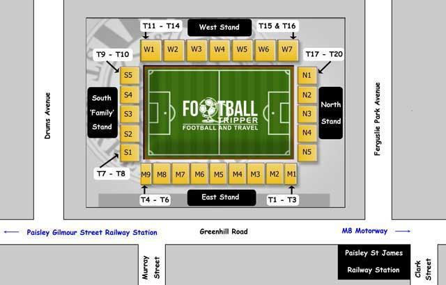 Saint-Mirren Park Seating Plan