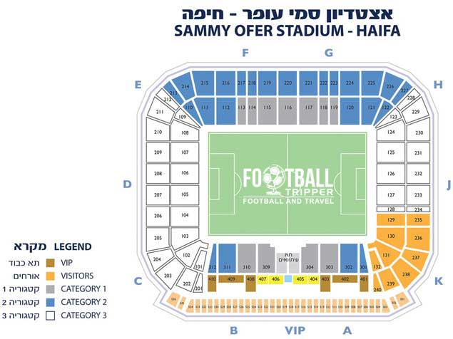 Israel National Stadium seating plan