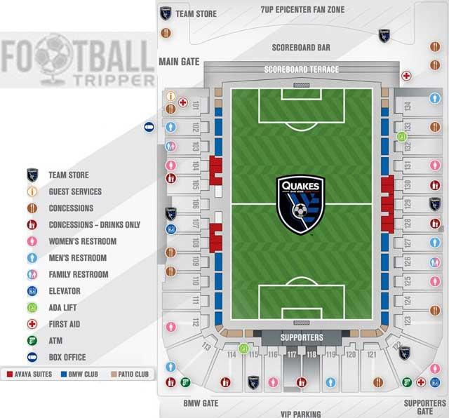 An edited stadium plan for Avaya Stadium