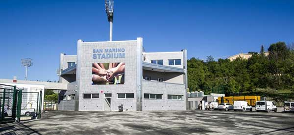 Entrance of San Marino's stadium