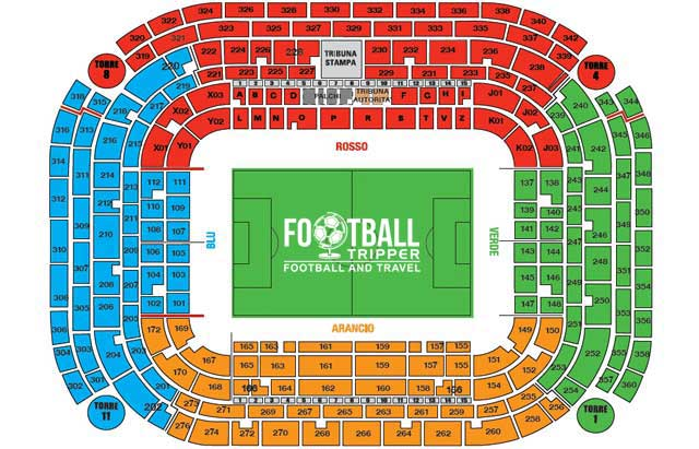giuseppe meazza/san siro seating plan