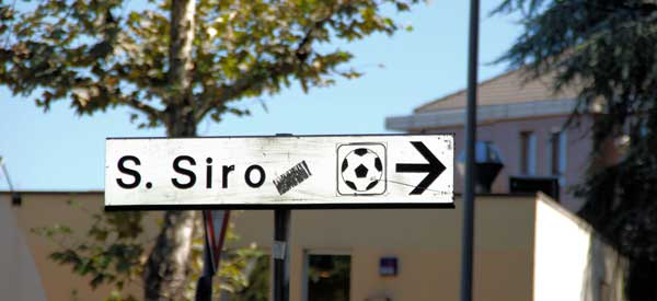 Sign for San Siro