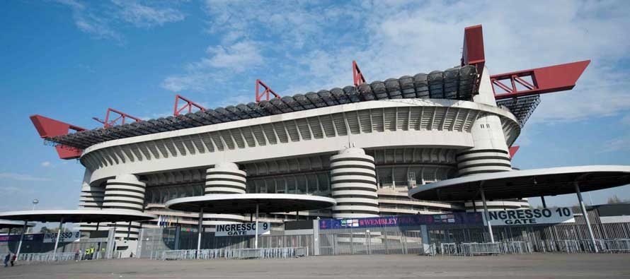 Exterior of San SIro Stadium