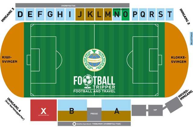 Sandnes Idrettspark seating chart