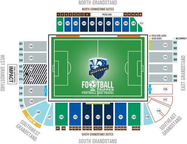Saputo Stadium Seating Plan