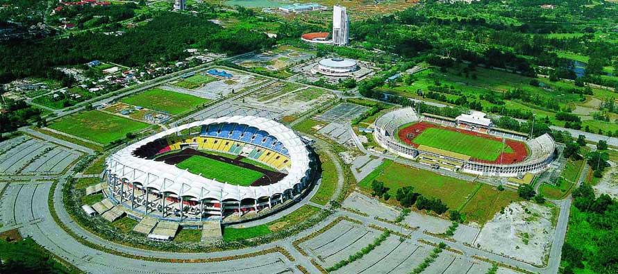 Aerial view of Sarawak Stadium
