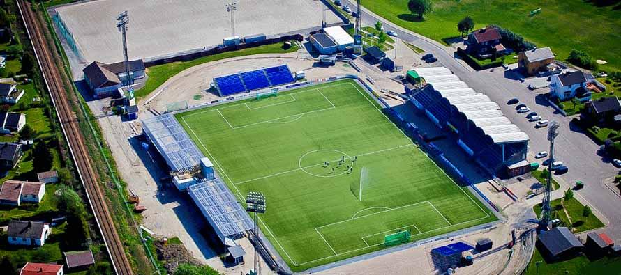 aerial view of sarpsborg stadion
