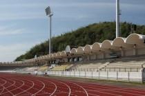 The main stand at the Navy Stadium